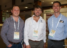 Lohan Marais (Delecta Fruit), Kobus Meintjies (Corteva Agriscience) and Stefan du Plessis, MD of Delecta fruit.