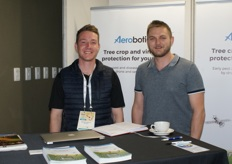 Devin Osborne of Aerobotics and Charl Coetzee of Paltrack.