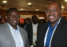 Chance Kabaghe of IAPRI, Zambia, and Wellington Sikuka of the UDSA in South Africa.