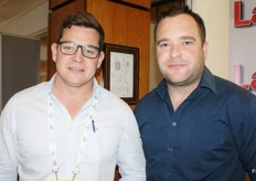Nico van der Merwe of Sonop farms in Namibia and Nicholis Cilliers of Star South.