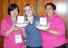 Hanrie Greebe, Mari Munnick and Michelle Hartze of Potatoes SA.