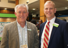 Trevor Dukes, CEO of The Fruit farm Group South Africa, and Richard Owen, vice-president of global business development at the PMA.