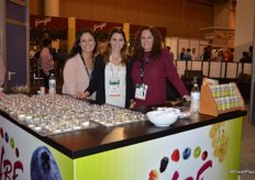 Kellie Flores, Caroline Knecht and Lori Hikcey with Hurst's Berry Farm.