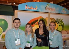 Fresco Produce is represented by Hugo Rodriguez, Rebecca Garcia, Fresco's model and Carlos Ponce de Leon.