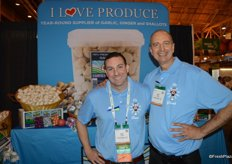 Eric Frasse and Jim Provost with I Love Produce