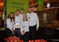 Ellie Tucker, Brent Shammo, Mike Marboe, Jessica McFadden and Dan Davis with Oneonta Starr Ranch. Jessica and Dan focus on the organic side of Oneonta's business.