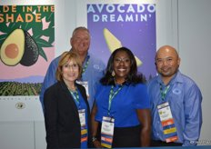 Representing the California Avocado Commission are from left to right: Connie Stukenberg, Rick Shade (Chairman of the Board), Angela Fraser and David Cruz.