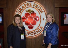 Susan Day and Karen Hearn with the California Table Grape Commission.
