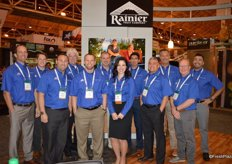 Another happy team in blue! The team of Rainier Fruit.