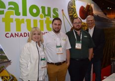 Julie McLachlan, Tony Markham, Eric Green and Mark Farmer with Jealous Fruits were serving frozen cherries to show attendees.
