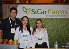 Luis Gudino, Marisa Puente Garcia and Cristina Ramirez with SiCar Farms.