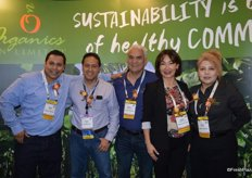 The team of Organics Unlimited. Marco Garcia, Manuel Velazquez de Leon, Mayra Velazquez de Leon and Gloria Smith. Second from the left is Daniel Lopez Silva with International Paper.