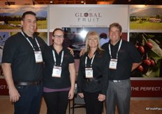 Global Fruit grows, markets and exports many different fruit varieties, but cherries are the company's specialty. From left to right Andre Bailey, his wife Krista Bailey, Laurel Angebrandt and Mike Isola.