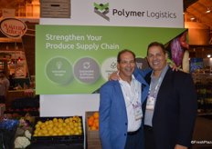 Gideon Feiner and Tony Mosco with Polymer Logistics.