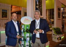 Doug Meyer and Mario Pacheco with Westpak proudly showing avocados.