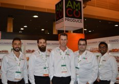 Nick Hanna, Mitch Amicone, Mark Weese, Mark Ricci and Kurvin Soobrayen with Amco Produce