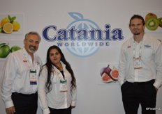 Mario Masellis, Connie Gil and Brian Lapin with Catania Worldwide.
