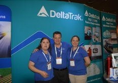 Claudia Blomgren, Bob Colcord and Luisa Bon with DeltaTrak.
