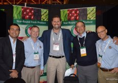Rodolfo Lozano with CPF, Nick Osmulski with North Bay Produce, Eugenio Oliveira with CPF and Ezequiel Gimenez and Eric Olshove with North Bay Produce.