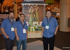 Chris Brazeel, Ricardo Valencia and Craig Rolandelli with JMB Produce. The company just expanded into organic sweet corn and organic asparagus.