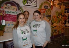 Tova Weimstock, Giselle Soares and Maribel Davila with Ready Pac Foods.