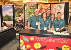 Steve Carlson, Chris Carlson, B.J. Thurlby, Teresa Baggerley and Keith Hu from NorthWest Cherries