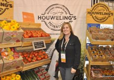 Lindsay Martinez from Houweling's promotes the new and first organic line of the company.