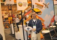 Omer Kamp from Arava Export Growers proud of his rugby ball