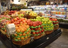 A relatively small section of the produce department is carved out for organic fruit.
