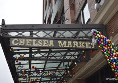 Arriving at Chelsea Market in the Meatpacking District.