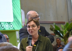 A speech by Annick Girardin, the Overseas Territories Minister at the stand of La Banane de Guadeloupe & Martinique. The company presented a new, sustainable French banana