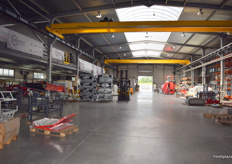 A view into the manufacturing warehouse for Sorter.