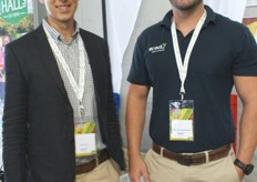 Jaco Nel, sales manager for jumbo bins and agriculture at Mpact and Theuns Lambrechts, also of Mpact.