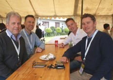 Simon Curry, MD of Three Farms Exports, Martijn de Graaf, MD of Yex (Dutch tropical fruit importer) with Nico Spruijt, product manager at Yex and James Kay of Three Farms Exports in the UK.