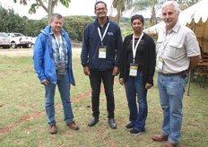 Kobus Koekemoer of Omega Landgoed near Hazyview, Clement Wilton of Perishable Movement Limited (PML), Roshnee Siripal, Cape Town branch manager for Hapag-Lloyd with Moorees du Toit of Morceau Boerdery, Kiepersol.