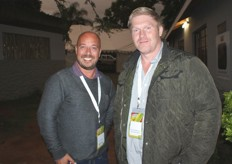 Simon Korkie of LCL Logistics Southern Africa with Steve Oosthuizen, general manager of Cape Fruit Coolers.