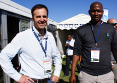 Adriaan Botha and Sipho Modibo, fruit technologists for Woolworths.