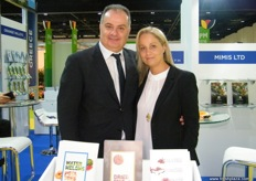 General Manager Georgios Goumas with wife Natasa of Agrexpo (Greece), main markets for export are Slovakia, Slovenia, the Czech Republic, Germany and Poland.
