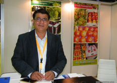 Nandkumar Ahire, Director, Jay Agro-Export, not only grapes for this Indian company. They also offer Bhagwa pomegranates.