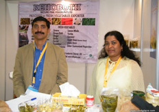 Marketing Director Joseph Shaji with Shyla Joseph for Rehoboth, a gherkin exporter from Taminaldu, India established in 2012.