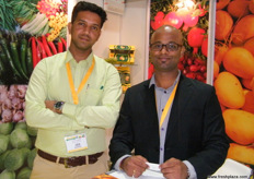 Nitin Sawant and Neil Pednekar for Gurukrupa Corporation (India); the company is Global GAP certified; growing and exporting mangoes, grapes and pomegranates.