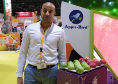 Mohamed Chair from Groupe La Blottiere (France); uses Apple Bird brand for their apples and pears.