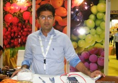 at the Gurukrupa Corporation (India) stand