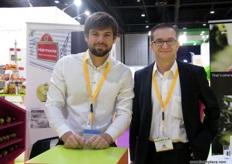 Sales Manager Baptiste with CEO Philippe Raynaud from Harmonie (France)