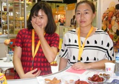 Alina and Zhiwei, trade representatives of Chengde YingYunKai (China)