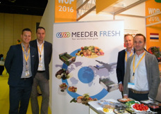 The Meeder Fresh (The Netherlands) team: Matteo Schievene (Mngr. Sales and Development), Olav Sonneveld (General Manager), Marco Kemmers (Sales Director) and Addie van Leeuwen (Sales Manager).