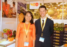 Nguyen Thi My Hiep and Jeroen Pasman from The Fruit Republic (Vietnam).