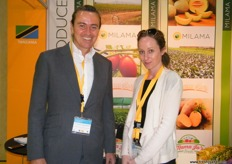 CEO Paul Dolan and Sophie Hunter of Milama (Tanzania)
