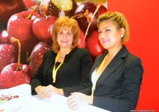 Board Member Mariana Miltenova, Bulgarian National Horticultural Union with Ethel Aguilar