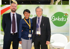 At the Italiuan stand: Export Manager Andre Jensen, Salvi; Sales Manager Reen Nordin, Origine Group and Export Commercial Manager Franco Nipoti, Spreafico.